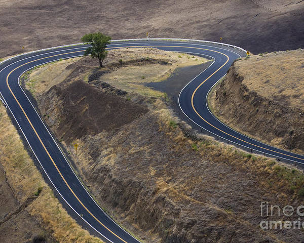 Road Poster featuring the photograph Winding Road by Idaho Scenic Images Linda Lantzy