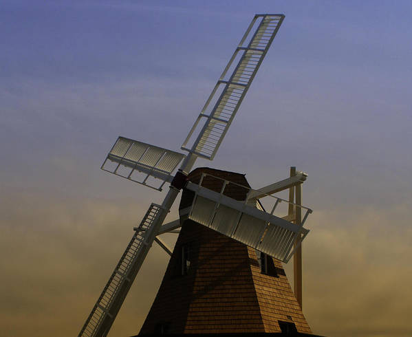 Windmill Poster featuring the photograph Windmill At Windjammer Park Wm6887a by Mary Gaines