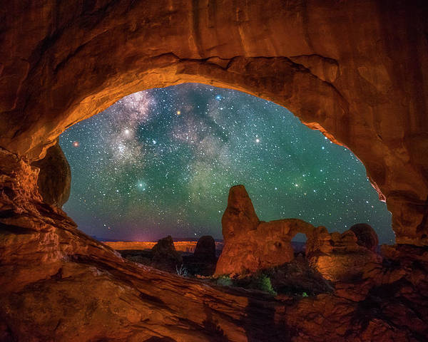 Night Sky Poster featuring the photograph Window To The Heavens by Darren White