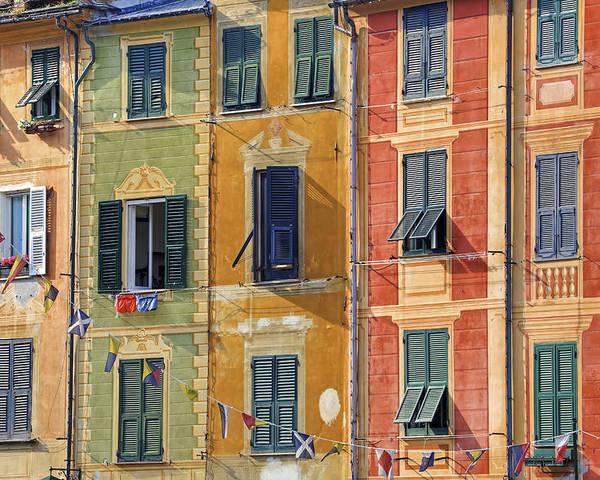 Portofino Poster featuring the photograph Windows Of Portofino by Joana Kruse