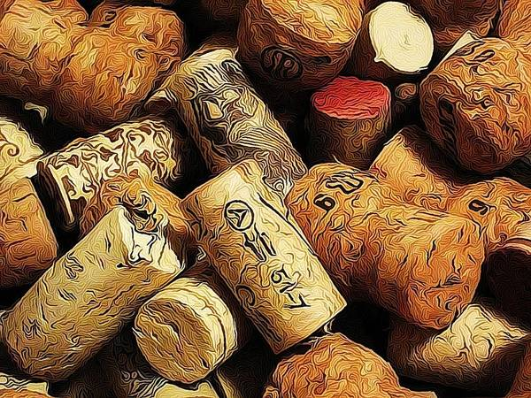 Corks Poster featuring the photograph Wine And Champagme Corks by Cathie Tyler