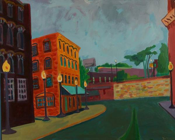 Cityscape Poster featuring the painting Wingate Street by Debra Bretton Robinson