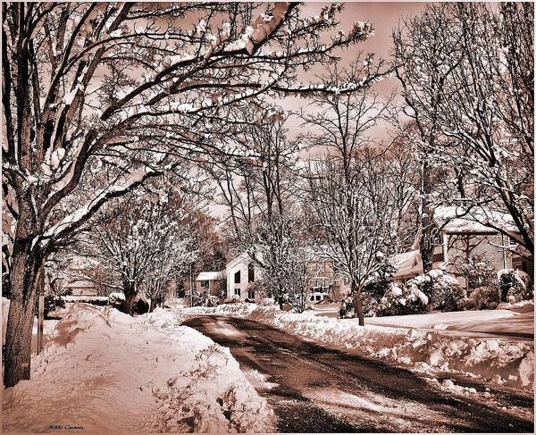 Landscape Poster featuring the digital art Winter Beauty by Mikki Cucuzzo