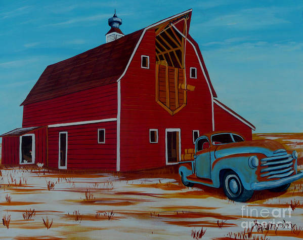 Farm Poster featuring the painting Winter Feed by Anthony Dunphy