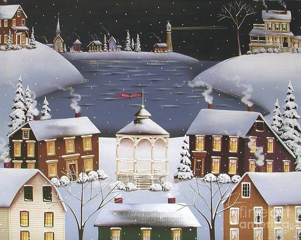 Art Poster featuring the painting Winter Festival by Catherine Holman
