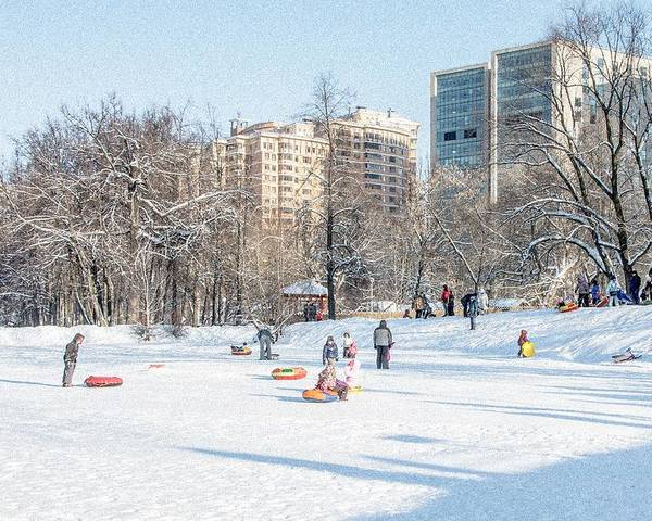 Winter Poster featuring the photograph Winter Fun by Sergey Ivanov