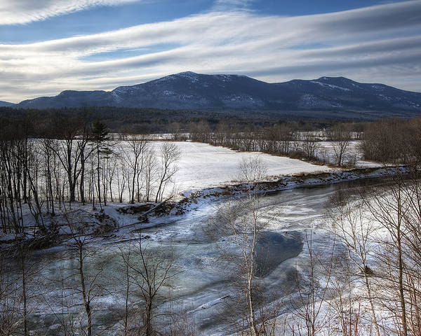 North Conway Poster featuring the photograph Winter In North Conway by Eric Gendron