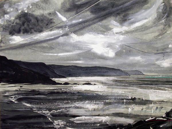 Shoreline Poster featuring the painting Winter Light by Keran Sunaski Gilmore