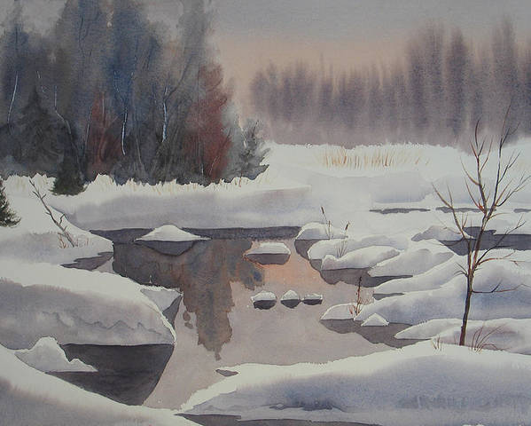 Winter Poster featuring the painting Winter Magic by Debbie Homewood