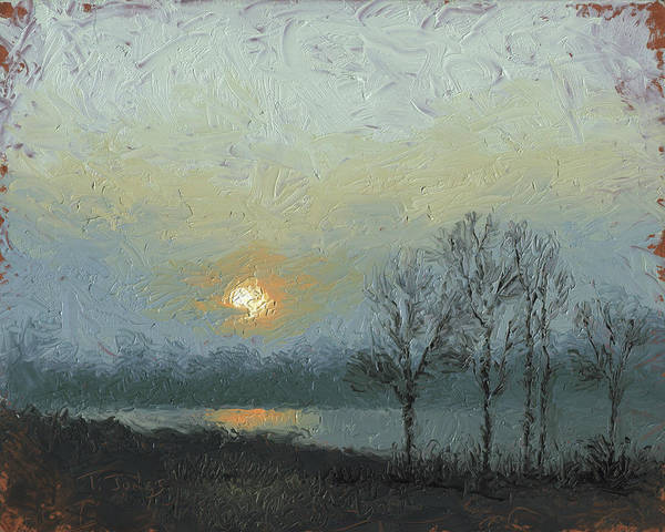 Arkansas Poster featuring the painting Winter Mist by Timothy Jones