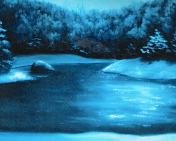 Nature Poster featuring the painting Winter Pond by Felix Turner