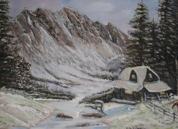 Winter Poster featuring the painting Winter Retreat by Allison Prior