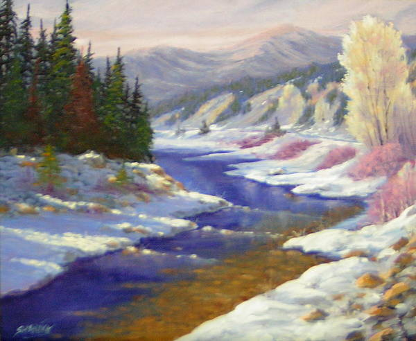 Landscape Poster featuring the painting Winter Revisited 070712-97 by Kenneth Shanika