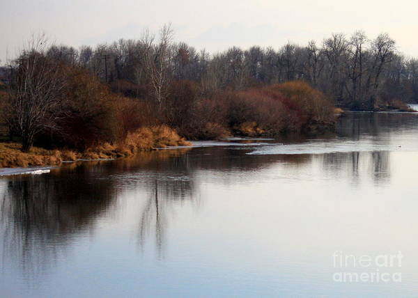 Yakima Poster featuring the photograph Winter Riverbank by Carol Groenen