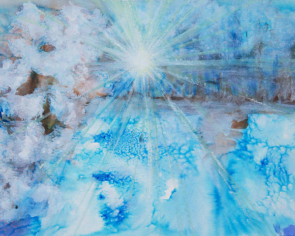 Abstract Poster featuring the painting Winter Scene by Tara Thelen
