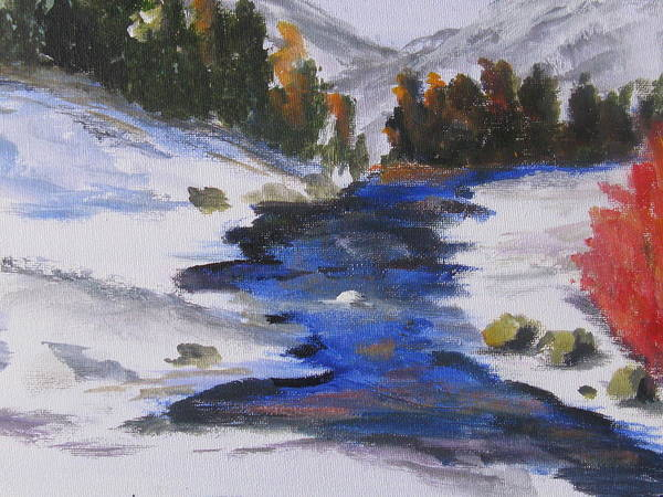 Snow Poster featuring the painting Winter Shades by Trilby Cole