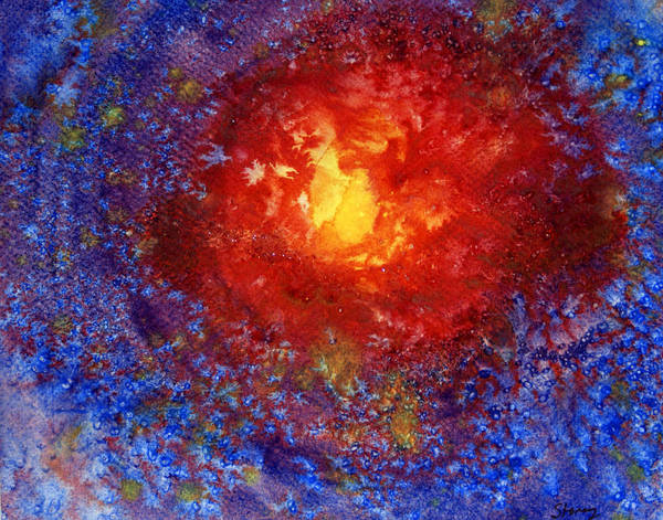 Sun Poster featuring the painting Winter Sun by Tina Storey