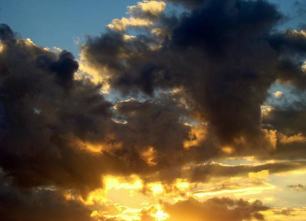 Clouds Poster featuring the photograph Winter Sunset Three by Ana Villaronga