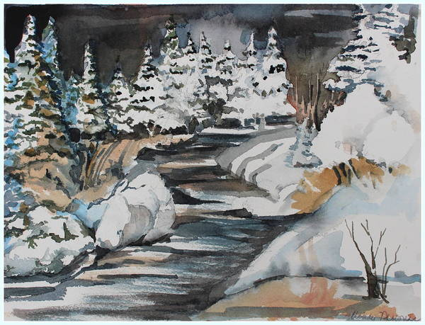 Winter Poster featuring the painting Winter White by Mindy Newman