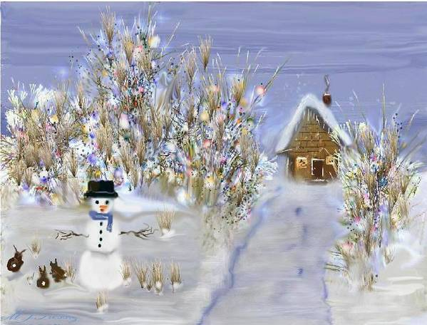 Snow Poster featuring the digital art Winter Wonderland by June Pressly