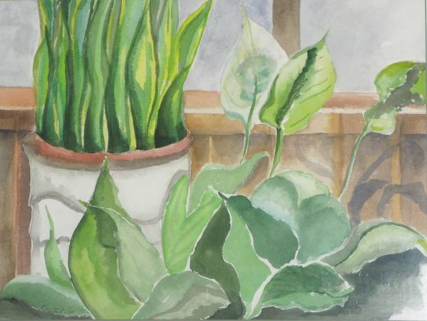 Still Life Poster featuring the painting Wintergarten by Kathy Mitchell