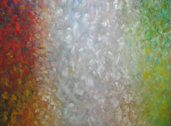 Abstract Painting Theme Painting Seasons Abstract Paintingsabstract Paintings Multi Colour Paintings Multi Colour Canvas Prints Abstract Canvas Prints Abstract Greeting Cards Paintings Paintings Poster featuring the painting Winters Cycle by Chris Riley