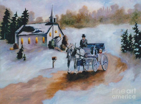 Winter Poster featuring the painting Winters Dream by Brenda Thour
