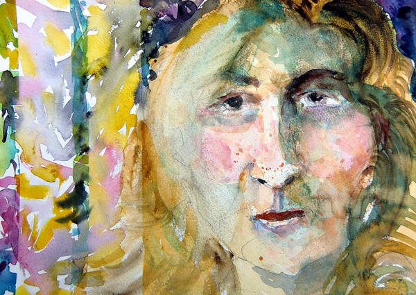 Portrait Poster featuring the painting Wisdom by Mindy Newman