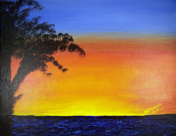 Landscape Poster featuring the painting Wish You Were Here by Georgie McNeese