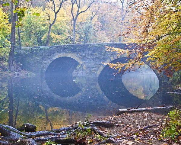 Wissahickon Poster featuring the photograph Wissahickon Creek At Bells Mill Rd. by Bill Cannon