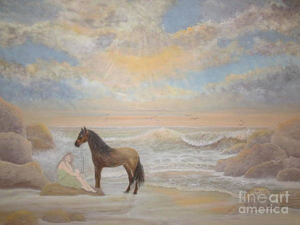 Horse Poster featuring the painting With A Song In My Heart by Patti Lennox