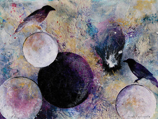 Raven Poster featuring the painting Within The Distant Aidenn by Sandy Applegate