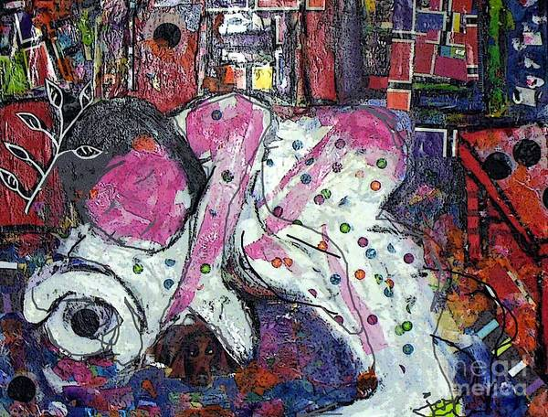 Woman Poster featuring the painting Woman And Dog by Joyce Goldin