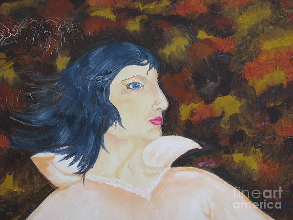 Art Poster featuring the painting Women - Fragment by Svetlana Vinokurtsev