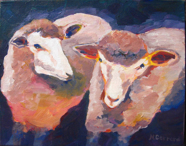 Sheep Poster featuring the painting Wool Marketing Board by Naomi Gerrard