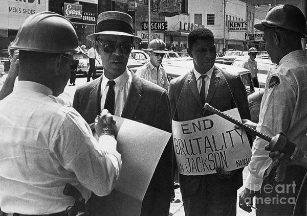 1963 Poster featuring the photograph Woolworths Protest, 1963 by Granger