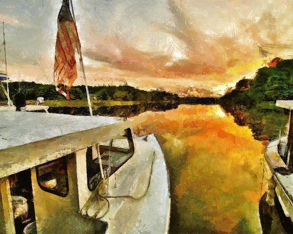 Boats Poster featuring the photograph Workboats On San Damingo Creek by Jim Proctor
