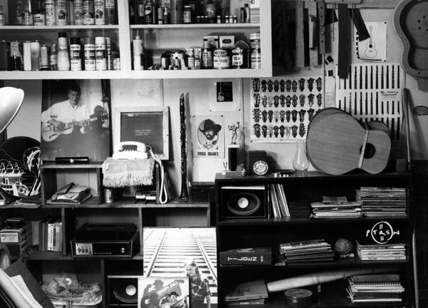 Black & White Photography Poster featuring the photograph Workroom 1979 by Gary Peterson