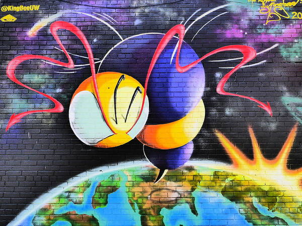 City Mural Poster featuring the photograph World Color Bee by Jack Riordan