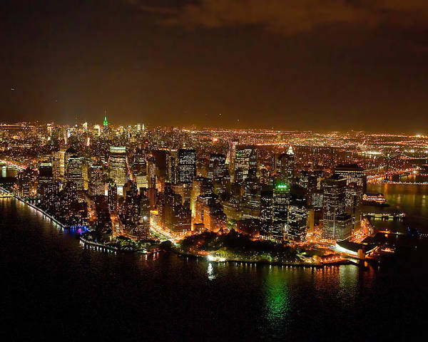 New York Poster featuring the photograph Wow New York City At Night by John Majoris