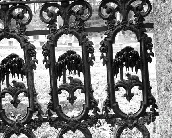 Gate Poster featuring the photograph Wrought Iron Gate -west Epping Nh Usa by Erin Paul Donovan
