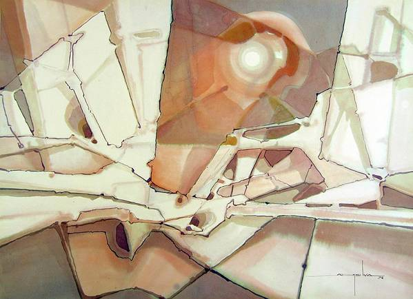 Abstract Poster featuring the painting Ws1978dc004 New Dimention by Alfredo Da Silva