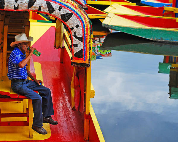 Skip Hunt Poster featuring the photograph Xochimilco by Skip Hunt