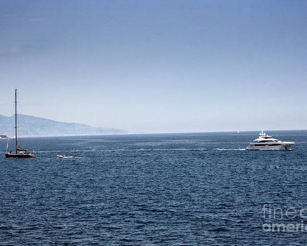 Yacht Poster featuring the photograph Yacht by Dan Radi