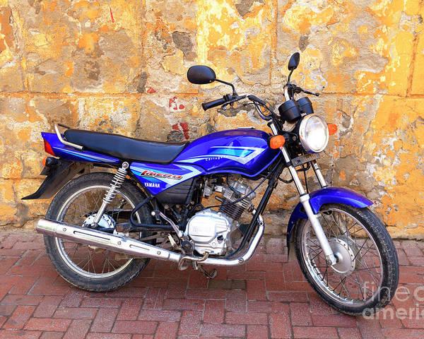 Yamaha In Cartagena Poster featuring the photograph Yamaha Ibero In Cartagena by John Rizzuto