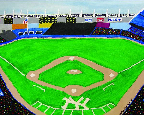 Yankee Stadium Poster featuring the painting Yankee Stadium by Jeff Caturano