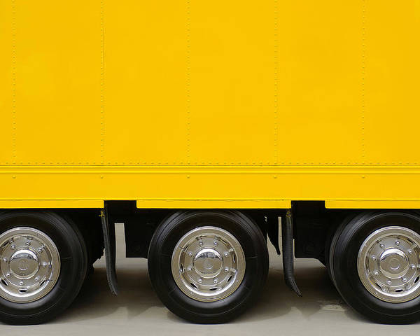 Advertising Poster featuring the photograph Yellow Truck by Carlos Caetano