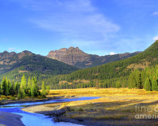 Autumn Poster featuring the photograph Yellowstone National Park Landscape by Juli Scalzi