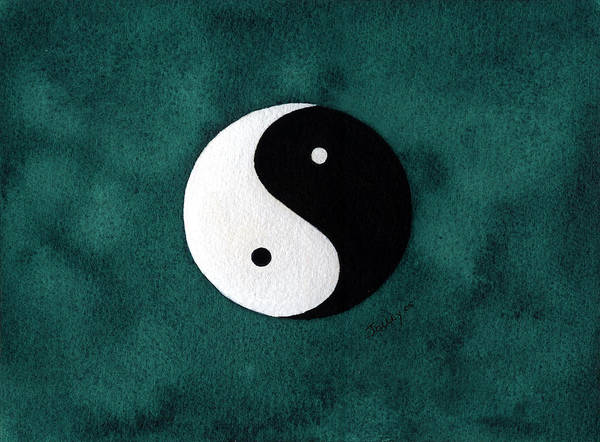 Yin-yang Poster featuring the painting Yin Yang by Stephanie Jolley
