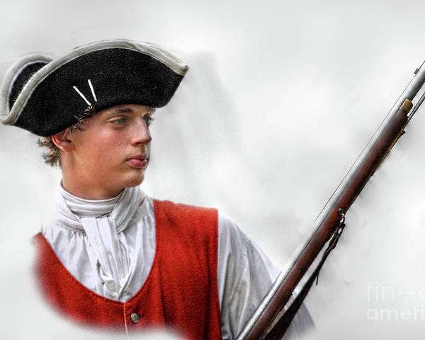 Bushy Run 2011 Poster featuring the digital art Youthful Soldier With Musket by Randy Steele